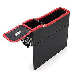 Car Console Side Pocket, Leagway PU Leather Car Seat Side St