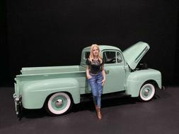 CAR GIRL IN TEE RACHEL FIGURINE FOR 1/18 SCALE MODELS BY AME