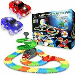 Glow Race Tracks for Boys – 360pk Flexible Glow in The Dar
