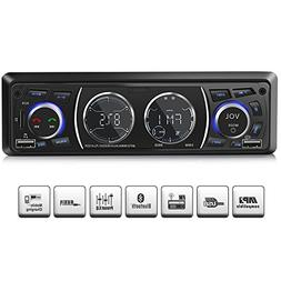 Car Stereo with Bluetooth, Single Din Universal Car Radio,US