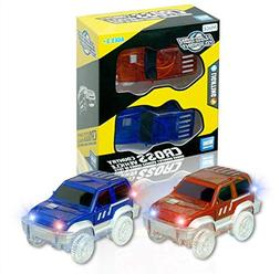 Car Track,Light Up Tracks Car Glow in The Dark Racing Track