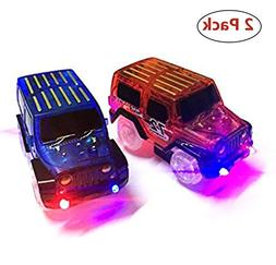 New Ideas Car Tracks,Light Up Replacement Toy Car  Glow in t