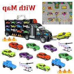 iBasetoy Carrier Truck Toy Set Transport Car Toy for Boys Gi