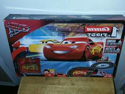 Cars 3 Slot Racing Car Race Track Set Includes Lightning McQ