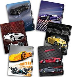 """New Generation - Cars - 1 Subject 70 Sheets 8"""" x 10.5"""" Wireb"""