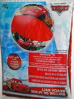 "DISNEY CARS BEACH BALL 20"" MCQUEEN LUIGI POOL BEACH KIDS FUN"