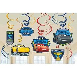 Disney Cars 3 Dangling Swirl Decorations Birthday Party Supp