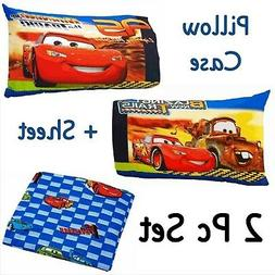 Disney CARS First to Finish 2pc Toddler Bed Set ~ Fitted Cri