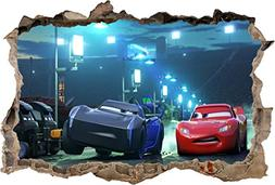 Cars Movie 3 Jackson Storm Smashed Wall Sticker Decal Home D