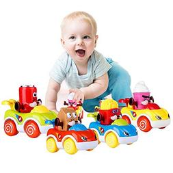 LUKAT Cars Toys for 1 2 3 Year Old Boys and Girls, Push and