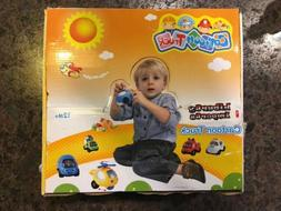 Cartoon Cars and Trucks Play Vehicles Set for Toddlers