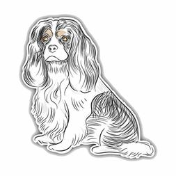 1 Pack Cavalier King Charles Spaniel Dog Car Stickers Vinyl