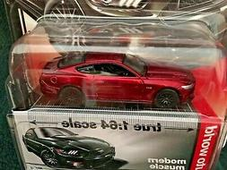 "Auto World ""Chase Car"" Modern Muscle, Ruby Red '15 Ford Must"