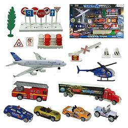 Joyin Toy City Vehicles Cars Educational Play Gift Set Inclu