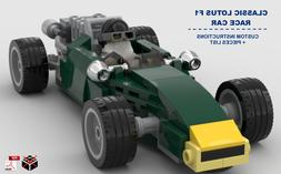 Classic F1 Lotus Race Car CUSTOM INSTRUCTIONS ONLY for LEGO