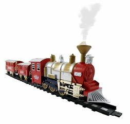 Classic Toy Electric Train Set Real Smoke and Sounds 13 Piec