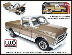 Auto World Collectible '68 Chevy C10 Pickup 1:18 Scale Dieca