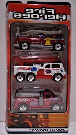 COLLECTIBLE FIRE HEROES PATRIOTIC NEW MATCHBOX  3 PACK FIRE