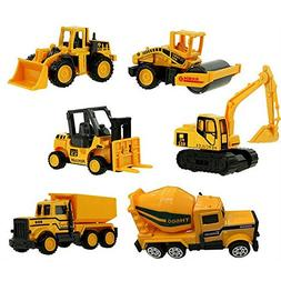 XADP 6 Pcs Play Vehicles Construction Vehicle Truck Cars Toy