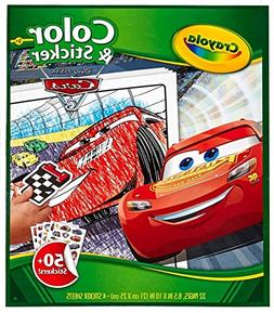 Crayola Disney Pixar Cars 3 Color and Sticker Book