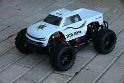 Custom Body Police Sheriff White for Redcat Volcano 1/10 Tru