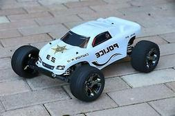 Custom Body Police Sheriff White for Traxxas Rustler 1/10 Tr