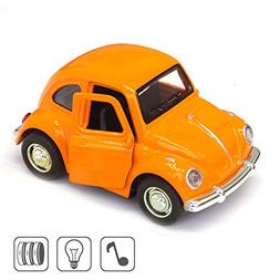 Cute Vintage toy Car for Kids, VW Beetle 1:38 Diecast Play V