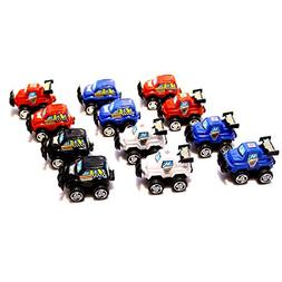 dazzling toys Mini Cars Pull Back & Let Go Race Cars 12 Pack