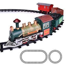 Deluxe Train Set for Kids Battery-Operated Toy with 4 Cars a