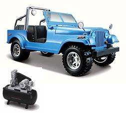 Bburago Diecast Car & Air Compressor Package - Jeep Wrangler