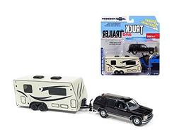 DIECAST 1:64 TRUCK AND TRAILER - CHEVROLET TAHOE WITH CAMPER