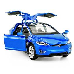 Diecast Vehicle Alloy Tesla toy car model X 90 Pull Back toy