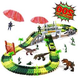 heytech Dinosaur Toys Dinosaurs World Car Vehicle Race Track