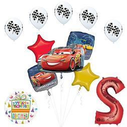 Disney Cars 3 Lightning McQueen 2nd Birthday Party Supplies