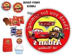 DISNEY CARS BIRTHDAY PARTY FAVORS STICKERS for FAVORS