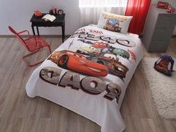 Disney Cars Single Twin 100% Cotton Bedding Bedspread Coverl
