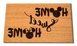 Disney Home Sweet Home Welcome Laser Engraved Coir Fiber Doo