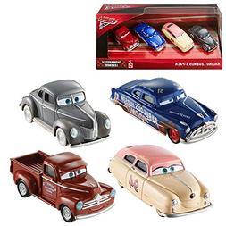 Cars Disney Pixar 3 Thomasville Legends 4 Pack Dirt Track Fa
