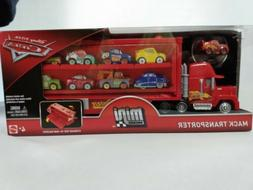 DISNEY PIXAR CARS MINI RACERS MACK TRUCK TRANSPORTER SIDE DO