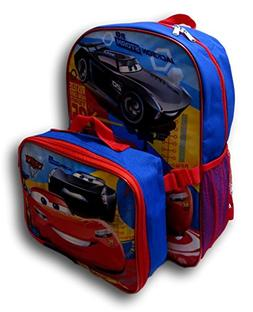 "Disney Pixar Cars Lightning McQueen 16"" Backpack W/Detachabl"