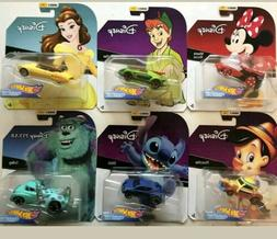 Disney Series 2 Hot Wheels Character Cars  Brand New #1,3,4,