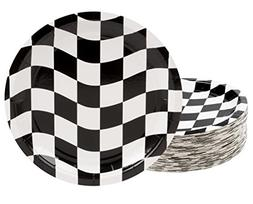Disposable Plates - 80-Count Paper Plates, Car Racing Party