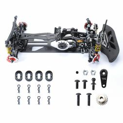 DIY Alloy&Carbon Fiber G4 Frame Chassis Kit for HSP RC 1/10