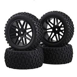 DN Front Rear Wheel Rim Rubber Tyre Tires 66016-66036 for RC