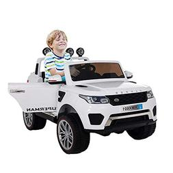 COLORTREE Electric Ride On Car Two Seater Truck with Remote