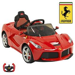 12V Electric Kids Ride On LaFerrari RC Remote Control Car- R