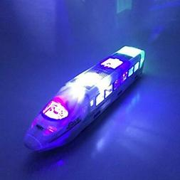 Electric Train Cars Toy Flashing Lights Exciting Music, Best