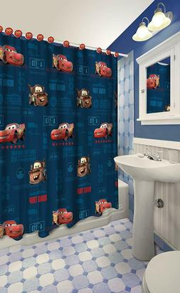Disney All New Fabric Shower Curtain Set with 12 Matching Ho