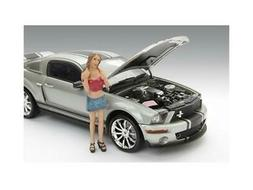 Female Monica Figure For 1:18 Diecast Model Cars by American