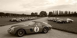 Ferrari 250 GTO Right Side 2 Black and White HD Poster Class